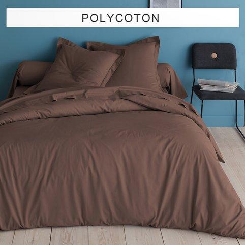housse de couette coton chocolat 2p. Black Bedroom Furniture Sets. Home Design Ideas